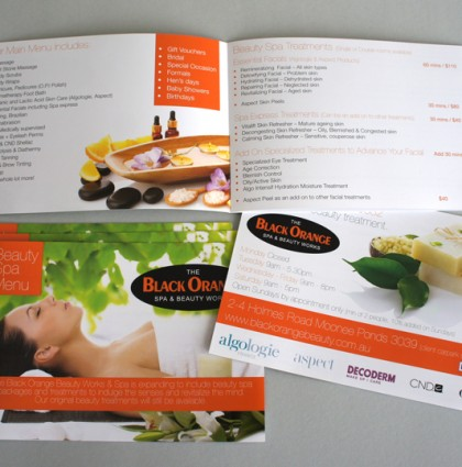 Beauty Spa Menu