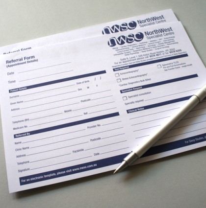 Referral Pads and Business Cards