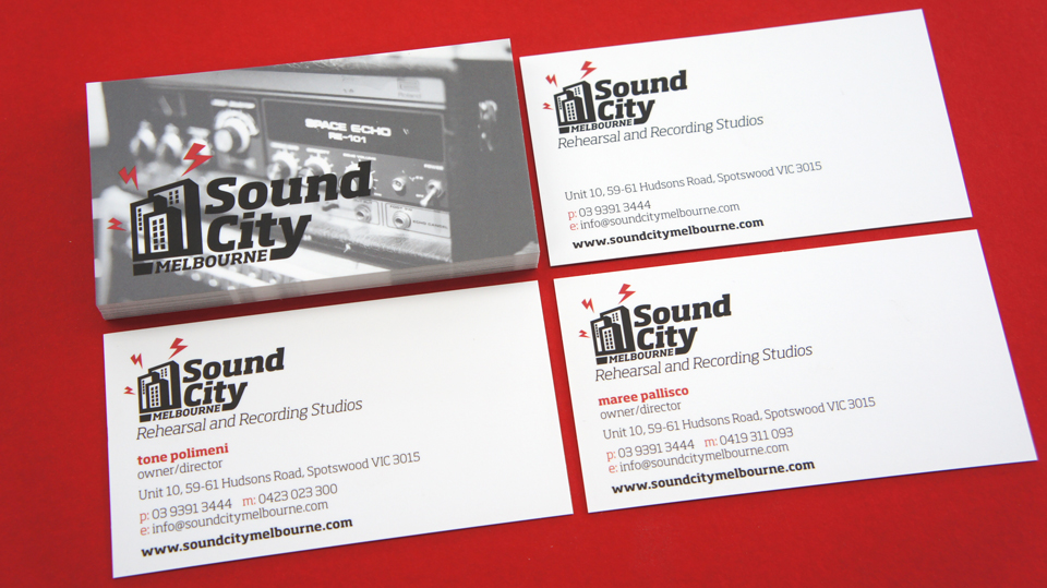 Sound city melbourne business cards ideaproideapro sound city melbourne business cards reheart Choice Image